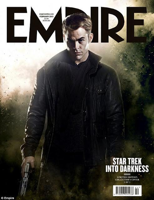 Kirk (Chris Pine) Empire STAR TREK INTO DARKNESS Cover