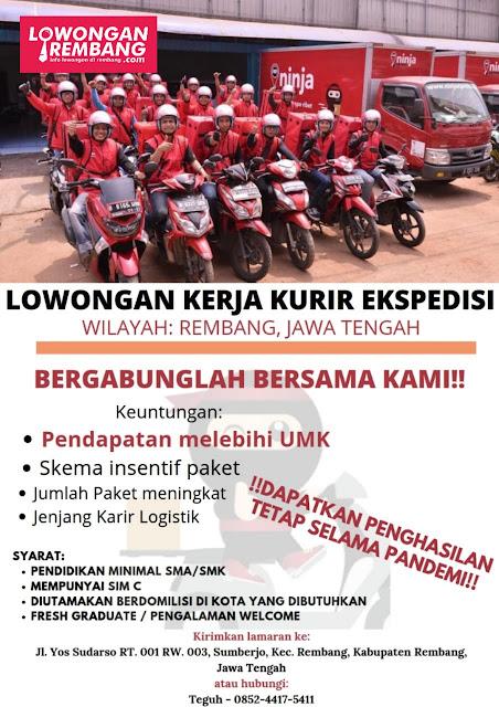 Lowongan Kerja Kurir Ekspedisi Wilayah Rembang Jawa Tengah