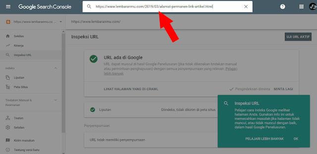Update !! Cara Submit Url Artikel Ke Google Webmaster Versi Terbaru Agar Langsung Terindex