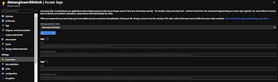 Access keys in blog storage account