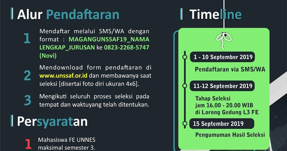 Open Recruitment Magang Unssaf 2019