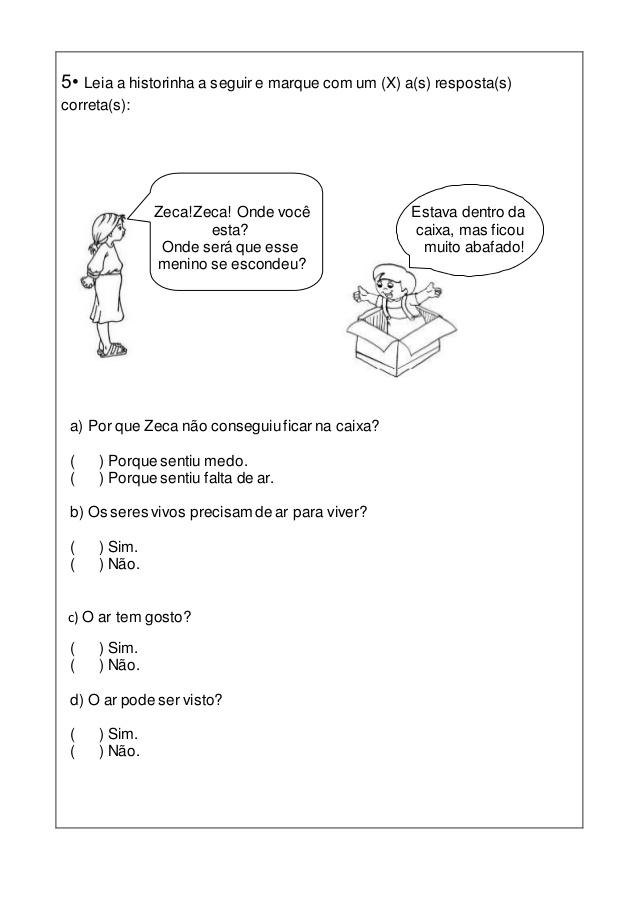 AVALIAÇÃO TRIMESTRAL DE CIÊNCIAS 3º ANO