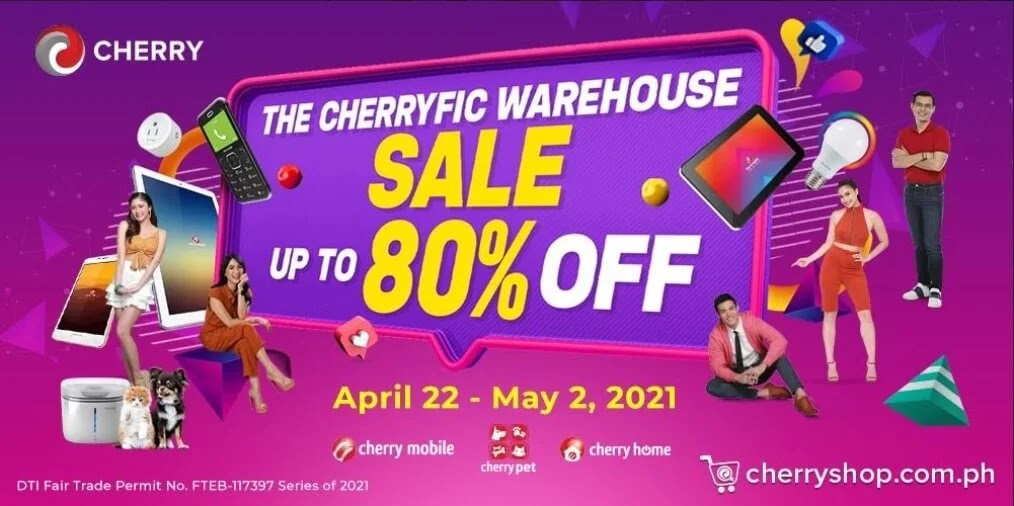 Up to 80% Off at Cherry's Online Cherryfic Warehouse Sale from April 22 to May 2!