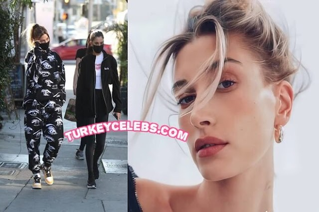 Hailey Bieber On Melrose Place In West Hollywood at Zinque Cafe.
