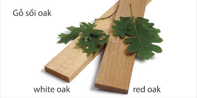 Có thể phần biệt gỗ sồi đỏ và trắng thông qua màu sắc