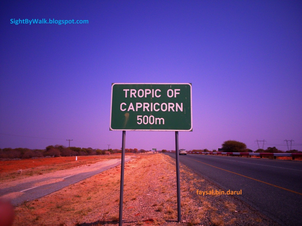 Sight By Walk  Crossing  U0026 39 Tropic Of Capricorn U0026 39  Line Over