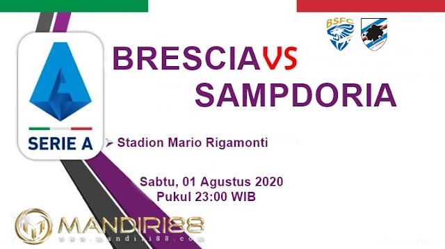 Prediksi Brescia Vs Sampdoria, Sabtu 01 Agustus 2020 Pukul 23.00 WIB