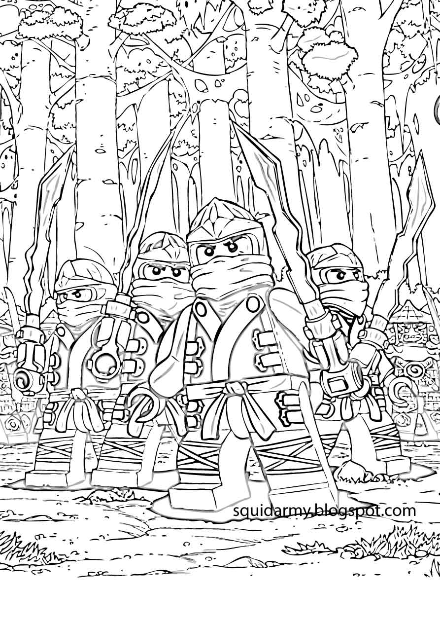 Lego Ninjago Coloring Pages Squid