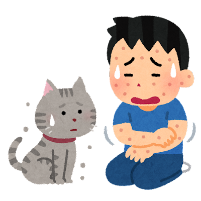 猫アレルギーのイラスト