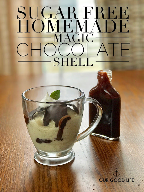 Sugar Free Homemade Magic Chocolate Shell