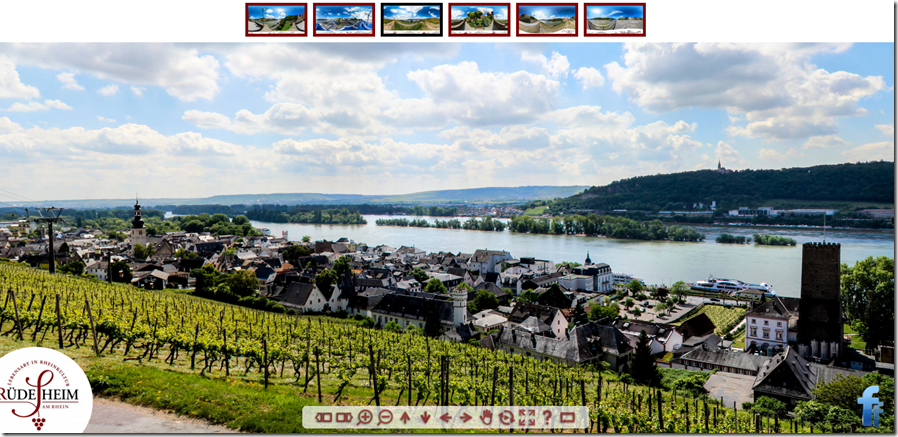 Amazing 360 Tours of Rüdesheim, Germany, just one of many enchanting villages along the Rhine River.