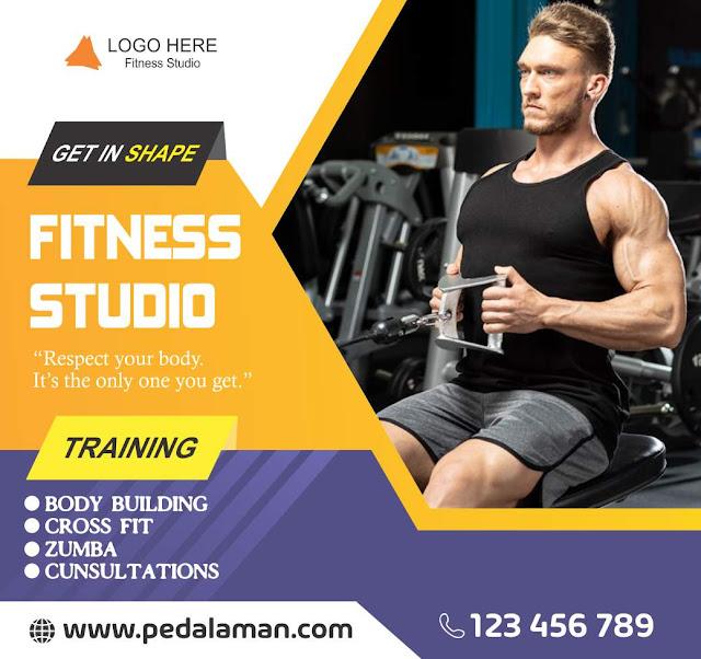 Desain Brosur Fitness