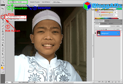 Menghilangkan Background Pas Foto di Photoshop
