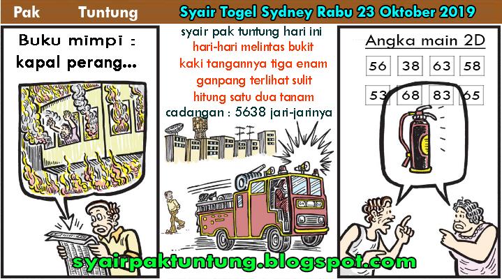Syair Pak Tuntung Togel Sydney Rabu 23 Oktober 2019 Syair