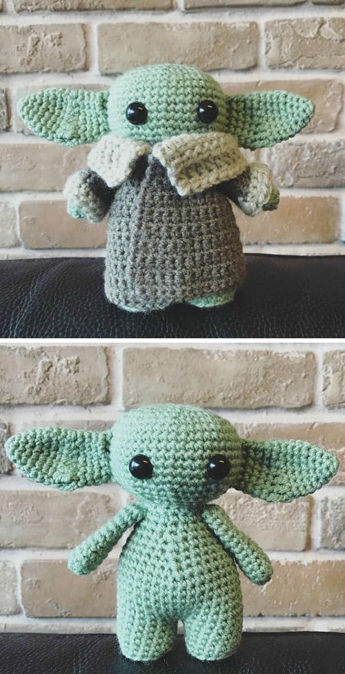 Amigurumi  Baby Yoda - Free Pattern
