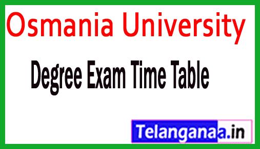 Osmania University Degree 1st 2nd 3rd Year Practical Exam Time Table
