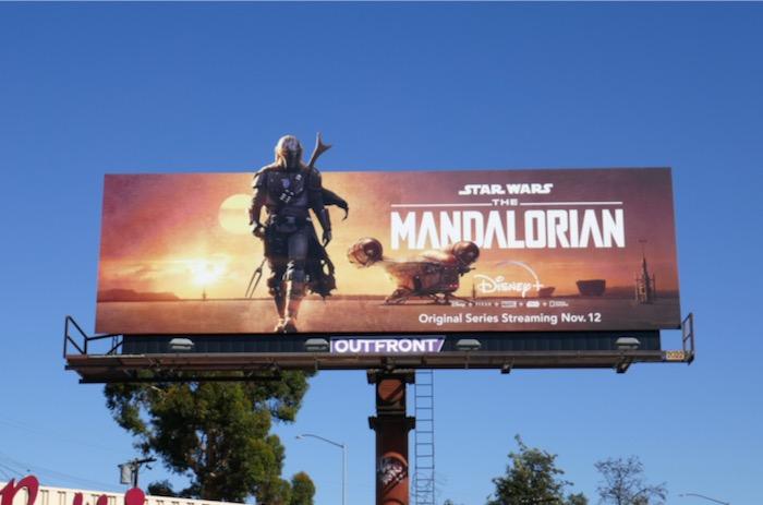 Star Wars Madalorian series billboard