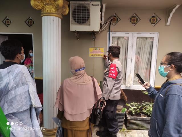 Kapolsek Baamang Monitoring Kegiatan Tracing Bersama Posko PPKM Kelurahan Baamang Barat