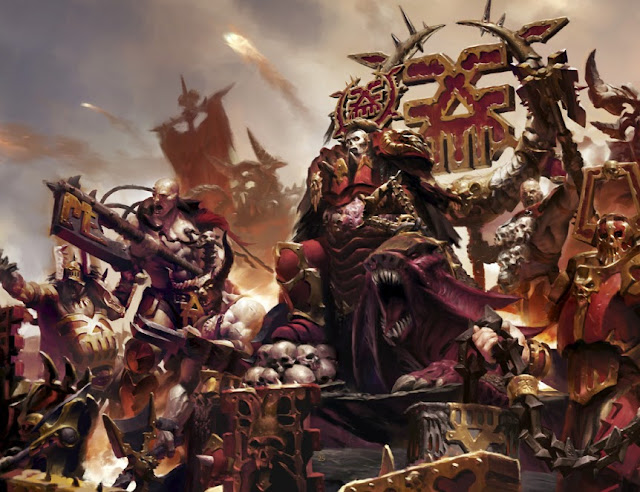 Warhammer age of sigmar mighty lord of khorne artwork battle ilustration fantasy 1