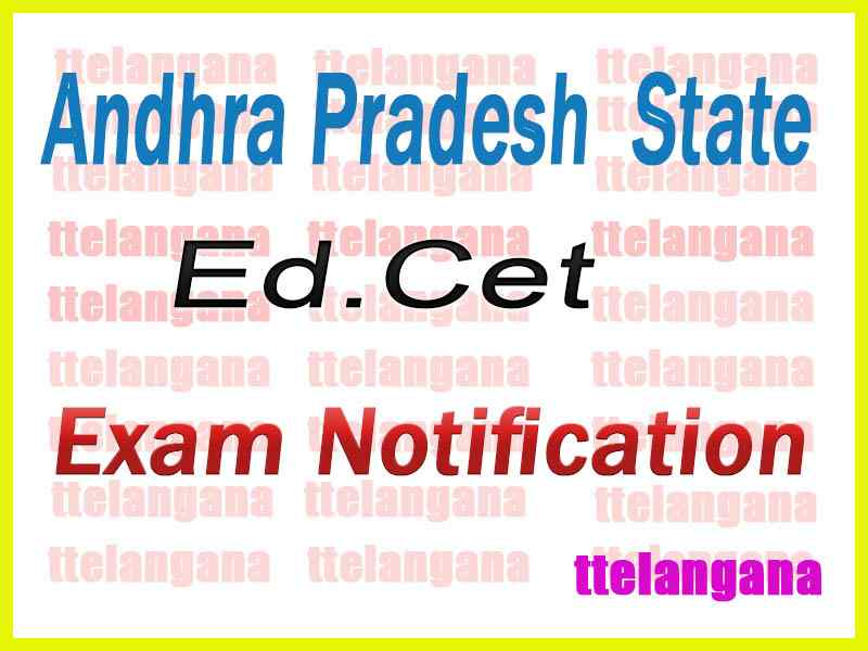 Andhra Pradesh Ed.CET AP EdCET 2019 Notification