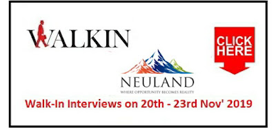 Neuland Laboratories walk-in interview for Production Chemist on 20th - 23rd Nov' 2019