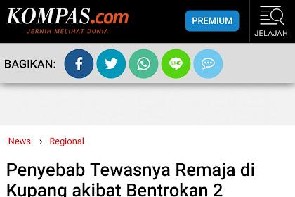 Anggota PSHT Kupang Menjadi Korban, Media Berita Nasional Sebar Berita Salah