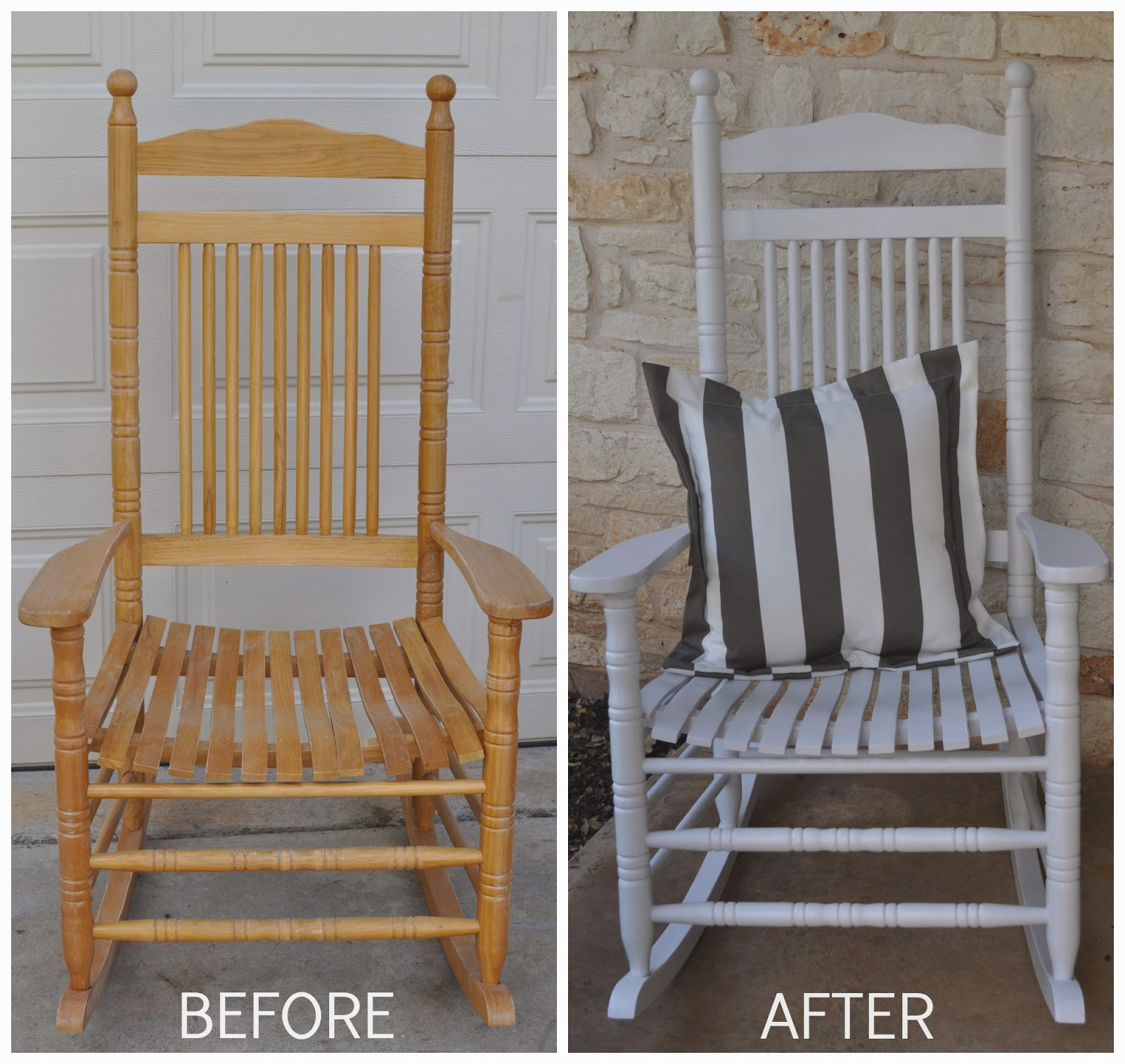 Before And After Rocking Chair Makeover Jesse Coulter