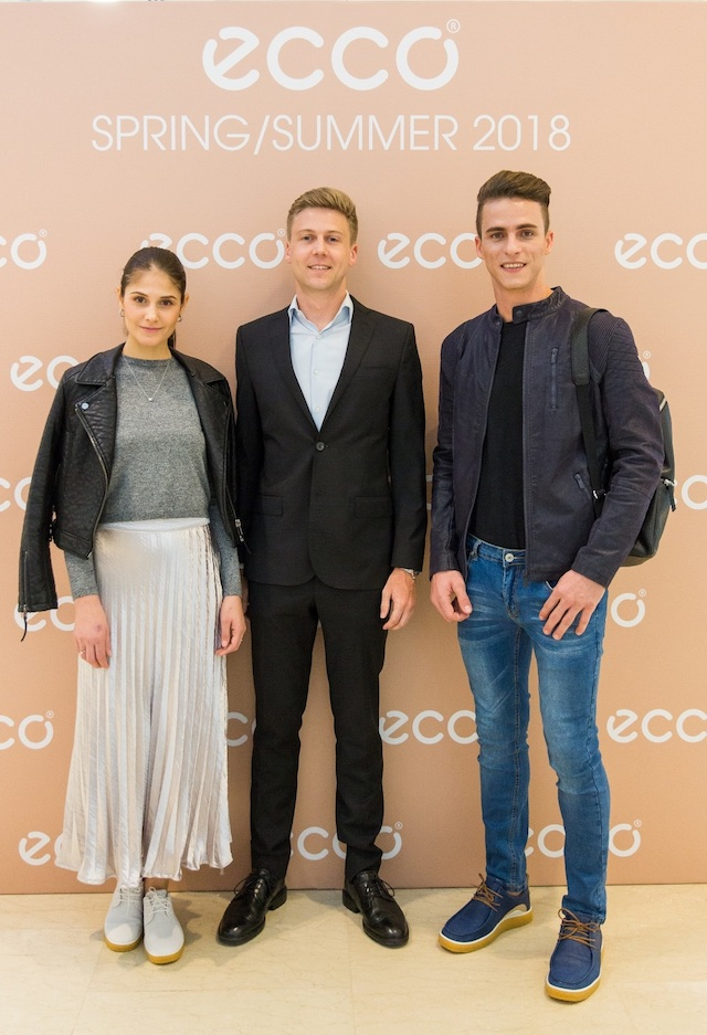 Mr. Martin Hein, General Manager of ECCO Singapore and Malaysia (middle), during the launch of ECCO's Spring/Summer 2018 Collection.