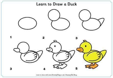 Cara Menggambar Bebek untuk Anak-Anak 2