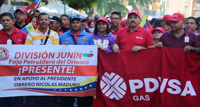 Multitudinaria marcha en Caracas en apoyo al Gobierno de Nicolás Maduro