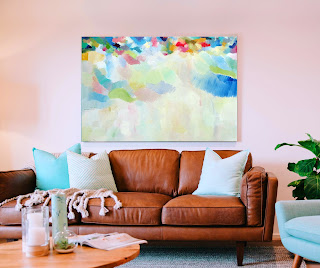 Bright abstract painting