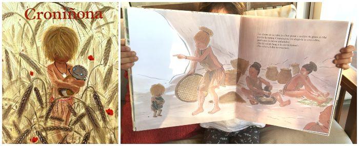 cuentos infantil prehistoria Croniñona