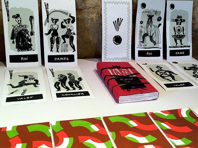 Brigitte Rio, Tarot, cartes à jouer, sérigraphie, jeu de cartes, brigitterio