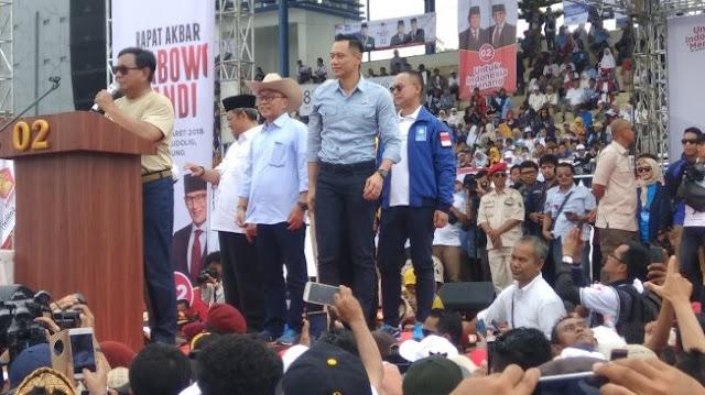 AHY Tidak Selalu Dampingi Prabowo Kampanye
