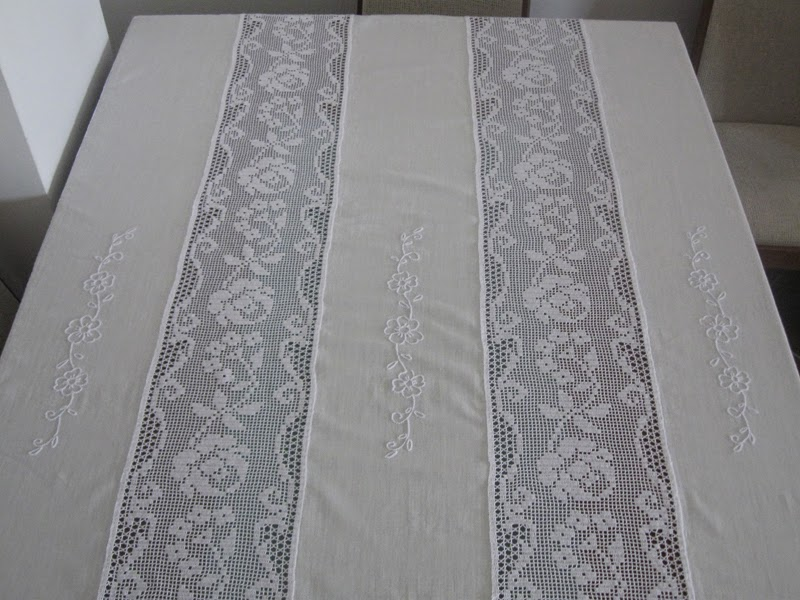 Agulha Mágica - Magic Needle: Toalha de linho - Linen towel