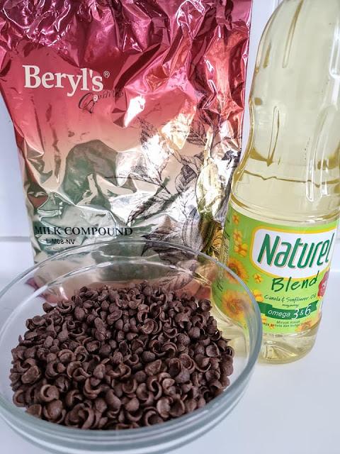 bahan-bahan resepi choco jar