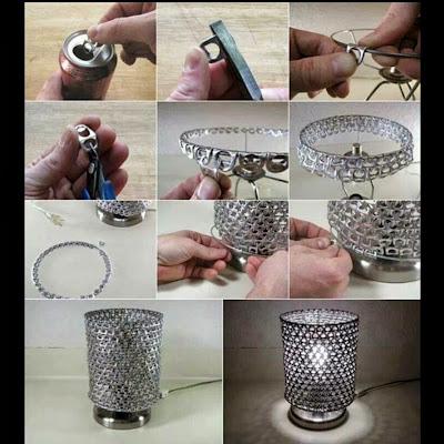 DIY : Terendak Lampu Dari Bahan Kitar Semula