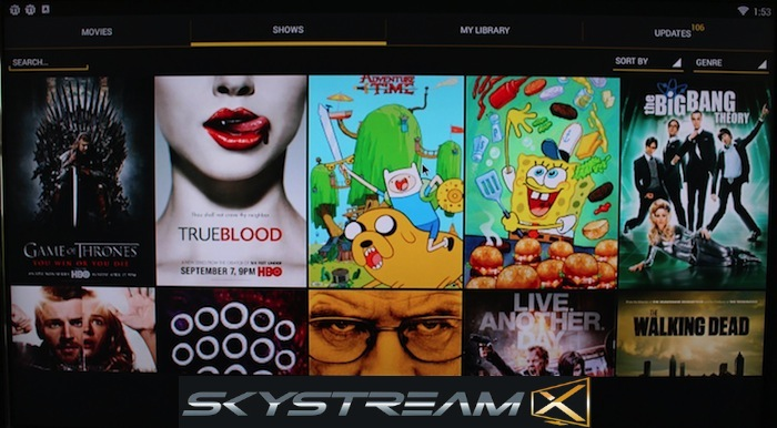 SkyStreamX 4 Quad Core Android Media Streamer