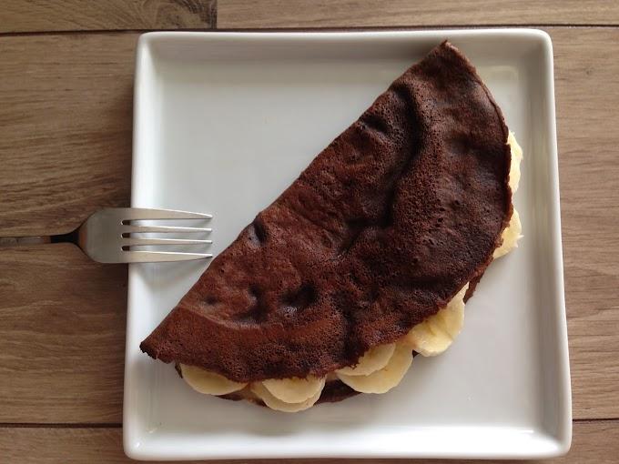 Crepioca de Cacau e Banana para Dar um Up no Café da Manhã
