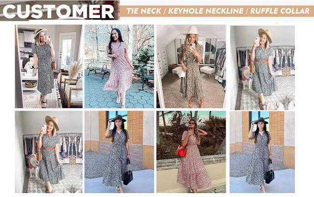 1. BTFBM Floral Vintage Elastic Dresses - Features :
