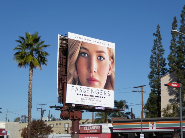 Jennifer Lawrence Passengers movie billboard