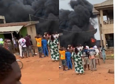 Two children have reportedly burnt to death as a gas station exploded in Ijebu-Ode, Ogun state.