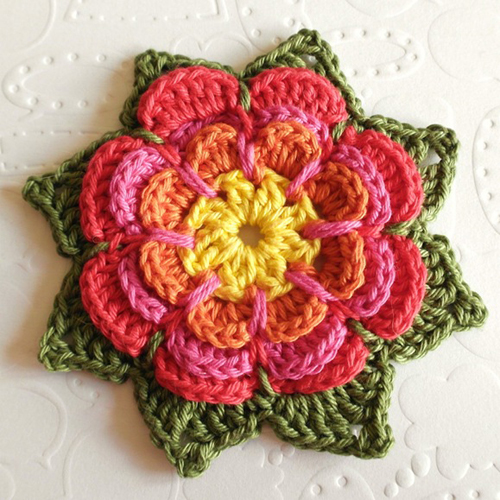 Crochet Pointy Flower - Free Pattern