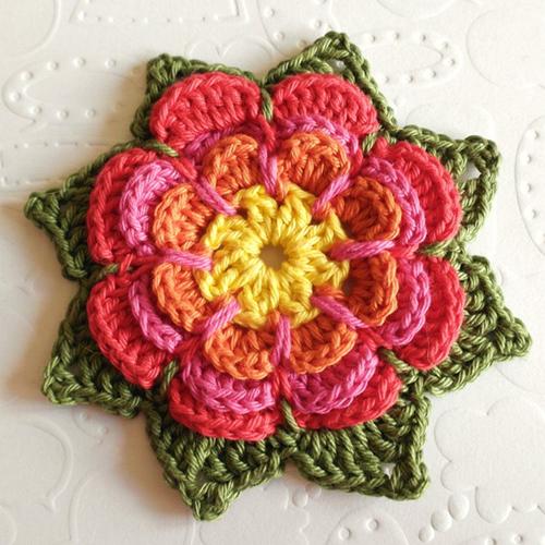 Crochet Pointy Flower - Free Pattern