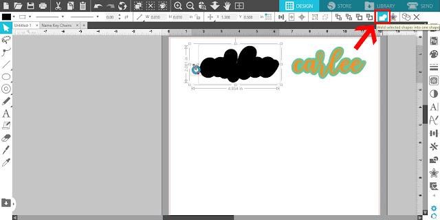 script fonts, gift ideas, keychain, silhouette studio, silhouette cameo 4