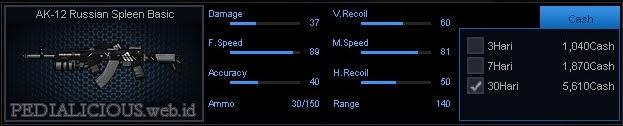 Detail Statistik AK-12 Russian Spleen Basic