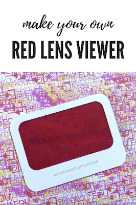 Make Your Own Red Lens Viewer for Breakout EDU