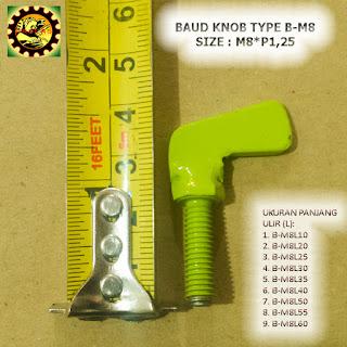 Contoh Baut Knob Plat Besi Type B-M8xP1,25