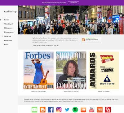 April Alsup Website Design