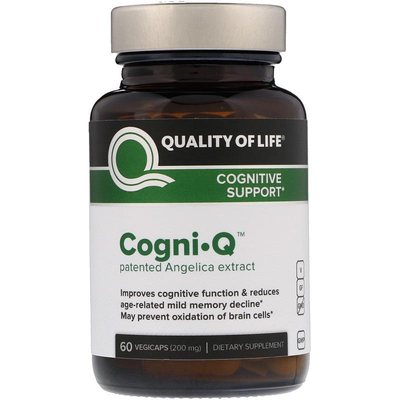 Quality of Life Labs, CognI • Q, поддержка когнитивных функций, 200 мг, 60 вегетарианских капсул